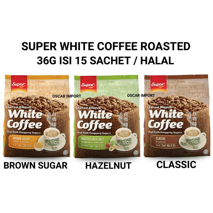 SUPER WHITE COFFEE ROASTED HAZELNUT 15PCS X 36GR