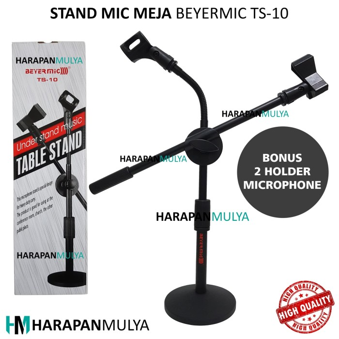 harga Mic table stand / dudukkan micophone meja beyermic ts-10 Tokopedia.com
