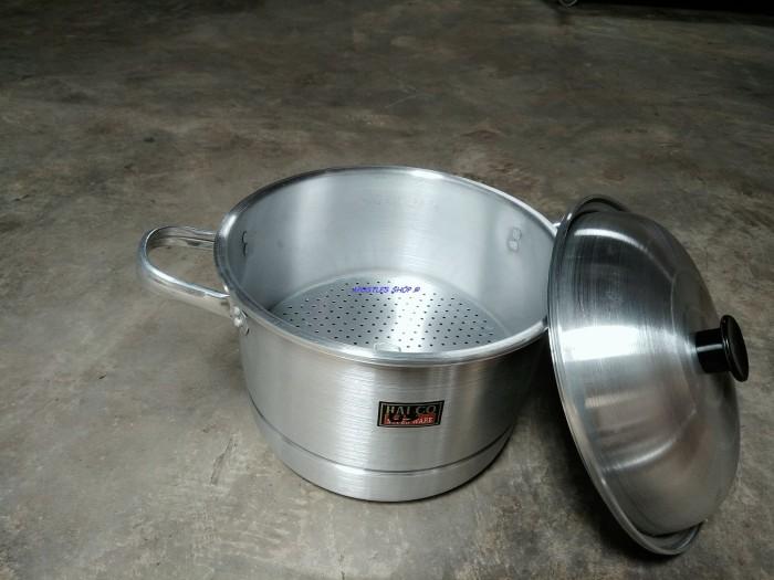 harga Panci serbaguna halco sg 24 / steamer halco / langseng aluminium 24cm Tokopedia.com