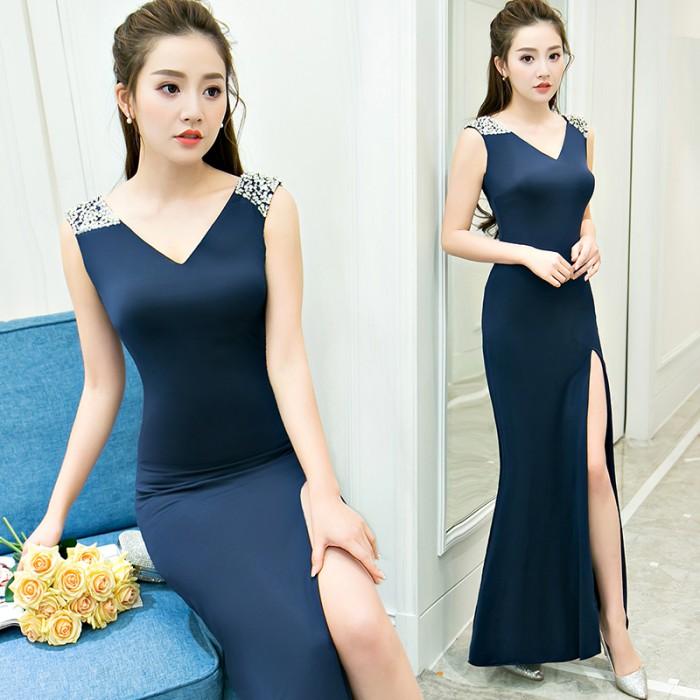 Jual Gaun Pesta Import 1803039 Biru Hitam Putih Merah Party Dress