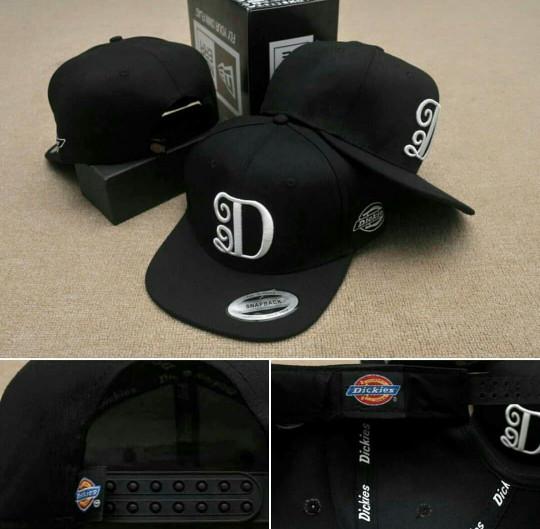 1b9f24af768 Jual Topi Snapback Dickies D logo Black - Markotop Snapback