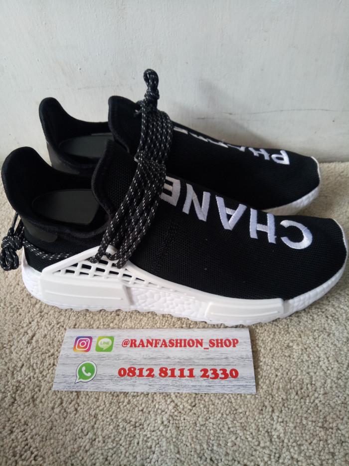 5a7c0a6ab adidas nmd human race premium original shoes   sepatu   original - Hitam