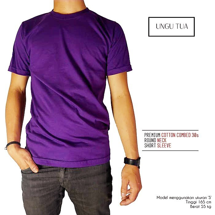 Jual Kaos Oblong Polos Warna Ungu Tua Jakarta Utara Cahaya