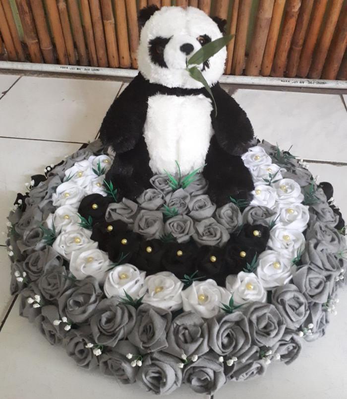 Jual Bunga Flanel Hiasan Meja Dekor 50cm Tri Colour Babybreath Boneka Panda Kota Medan Existi Collection Tokopedia