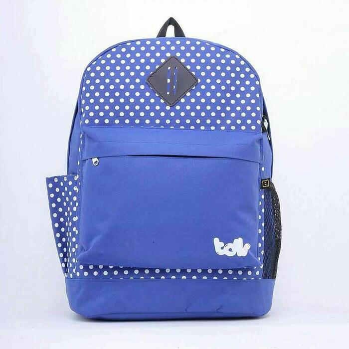 3bc97cd28bbc Jual T 6144 - Ta Sekolah Anak Tas Ransel Anak Backpack Anak Blue Wirh Polka  - Kab. Bandung - dropshipper feeder 2   Tokopedia
