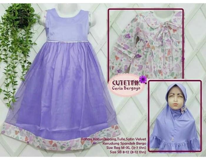 Jual Set Fashion Baju Muslim Anak Perempuan Gamis Cutetrik Terbaru