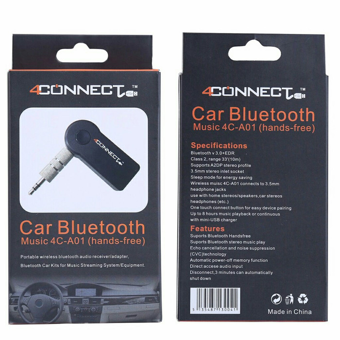 ... Dongle Transmitter Receiver Source · 4Connect Bluetooth Music Home Car Speaker Audio Adapter 3 5mm Black