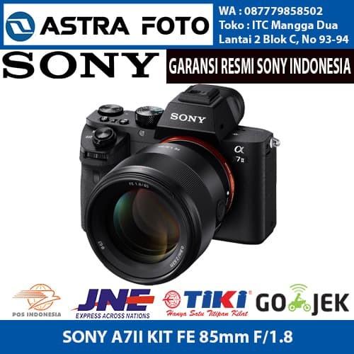 harga Sony alpha a7 ii kit fe 85mm f/1.8 mirrorless garansi resmi sony Tokopedia.com