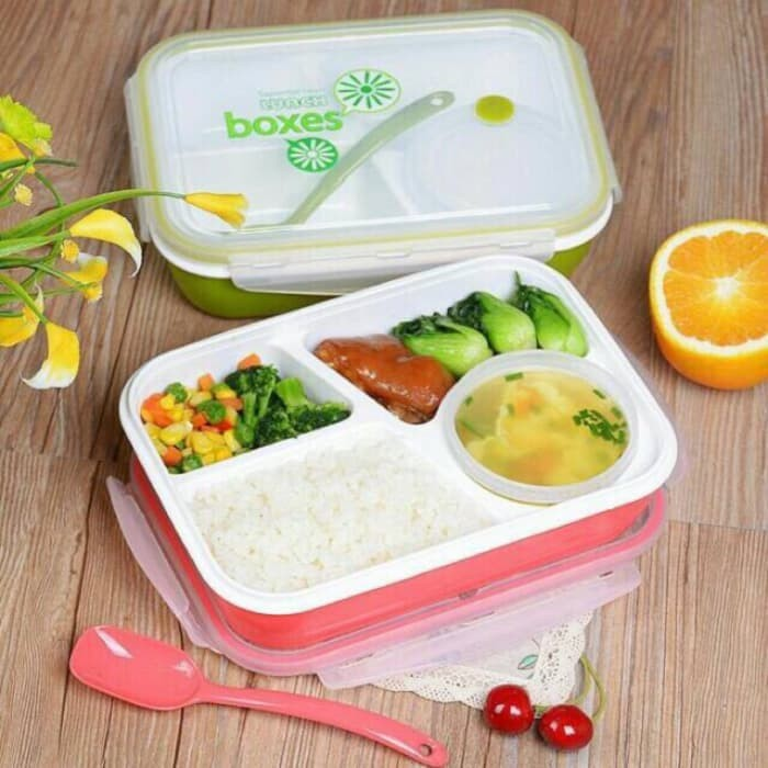 Yooyee 4 sekat lunch box / tempat makan yooyee : 415