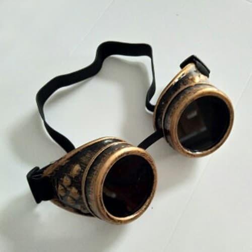 harga Kacamata goggle steam punk industrial cosplay warna gelap untuk las Tokopedia.com