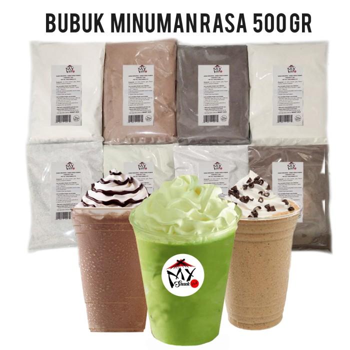 BUBUK MINUMAN RASA 500GR - BUBBLE DRINK - CAPCIN - ICE BLEND POWDER - BUBBLE GUM