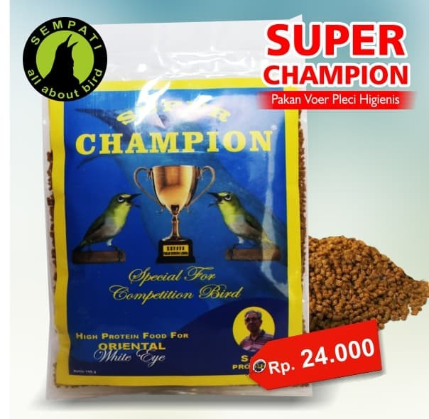 harga Super champion pakan burung pleci oriental white eye Tokopedia.com