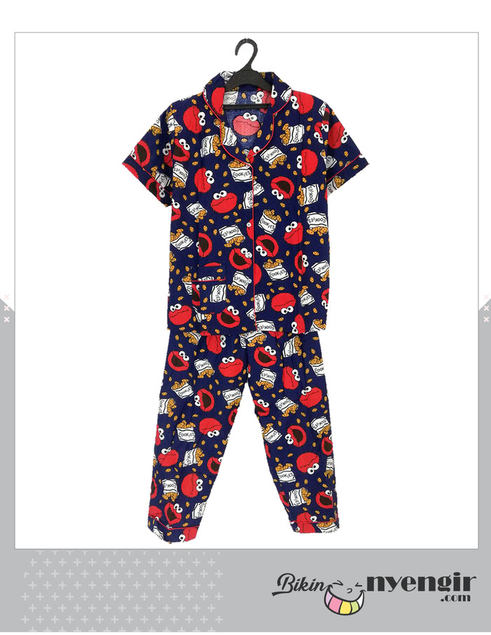 Piyama Elmo Street Cookies Model Celana Panjang Trendy - Menarik 422d4ad05