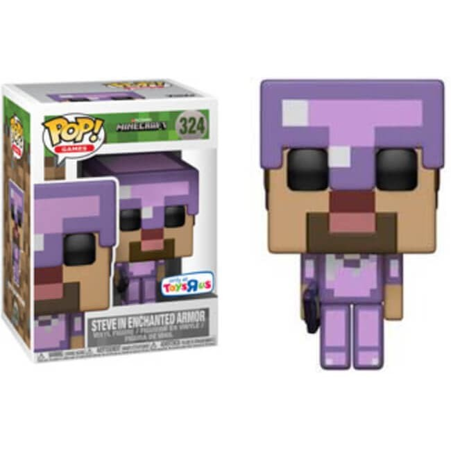 Funko pop! games: minecraft - steve in enchanted armor