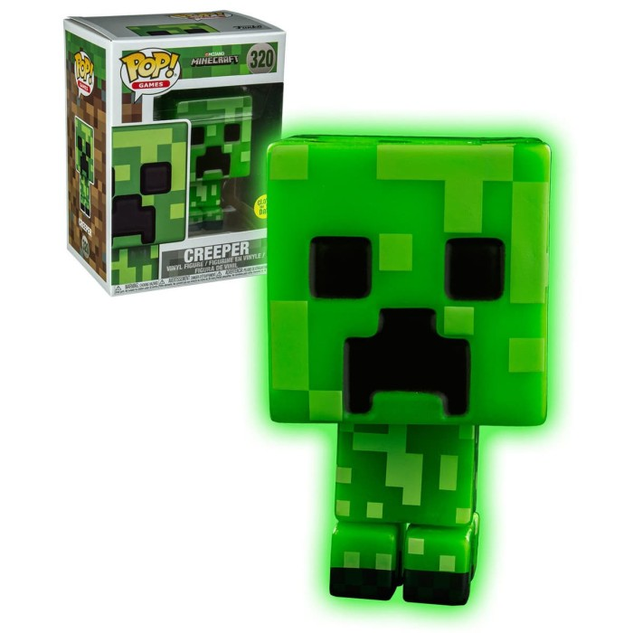 Funko pop! games: minecraft - creeper (glow)