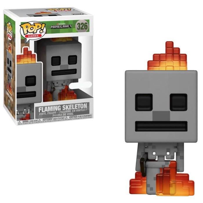 Funko pop! games: minecraft - flaming skeleton