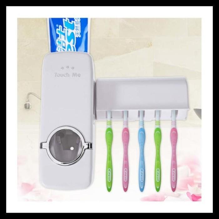 (Produk Baru!!) Starhome Dispenser Odol Dan Tempat Sikat Gigi - Tempat