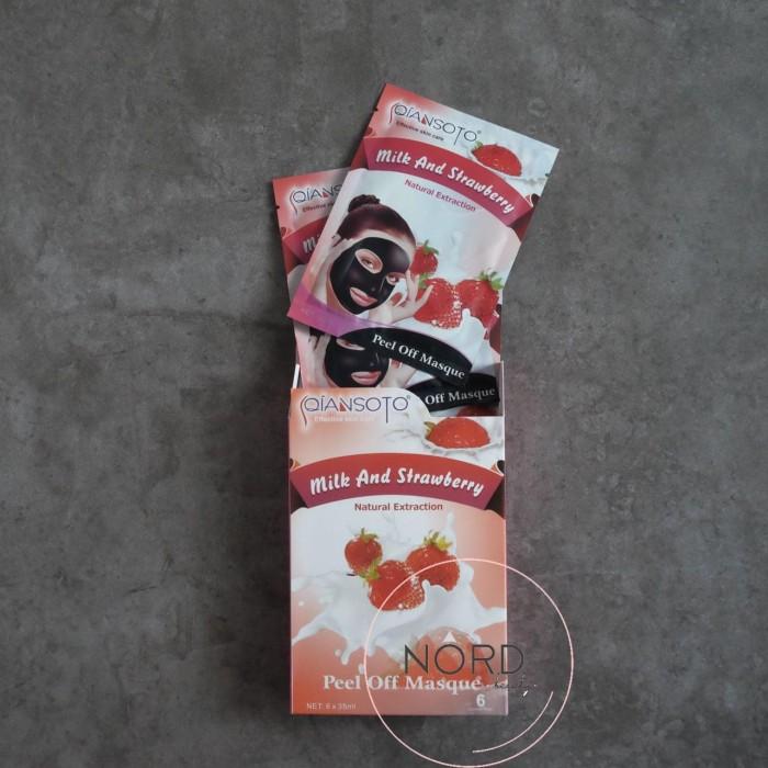Masker Qiansoto Milk and Strawberry