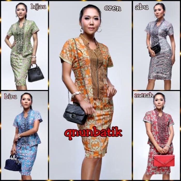 harga Dress terusan batik modern wanita samantha songket Tokopedia.com