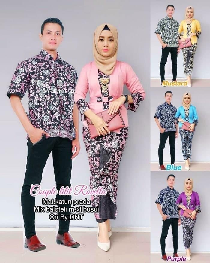 harga Batik couple kebaya modern sarimbit batik  murah berkualitas rovela Tokopedia.com