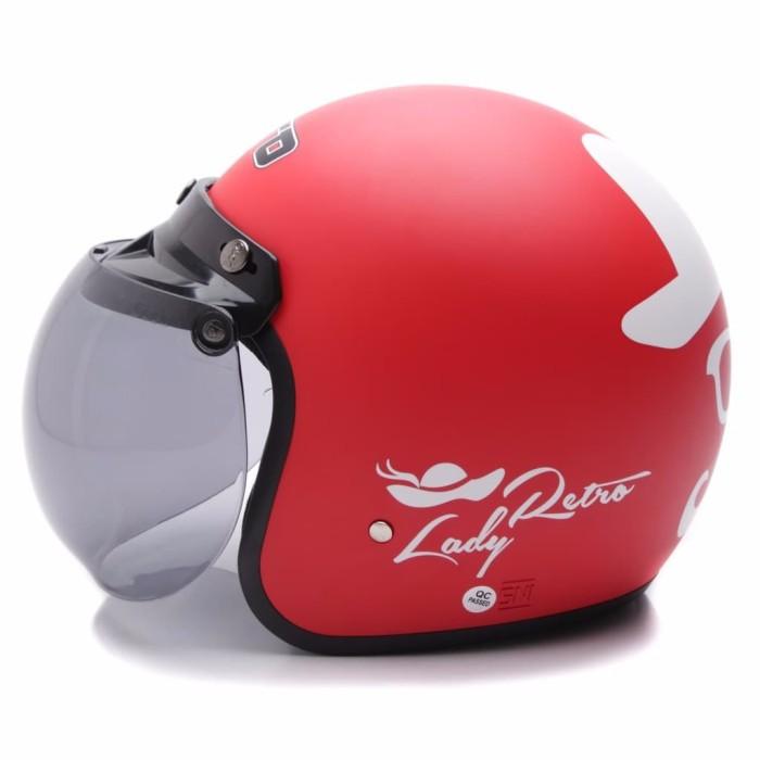 BGR helmet COUPLE HELM DEWASA WTO Helmet Retro Bogo Gentleman Hitam L 2