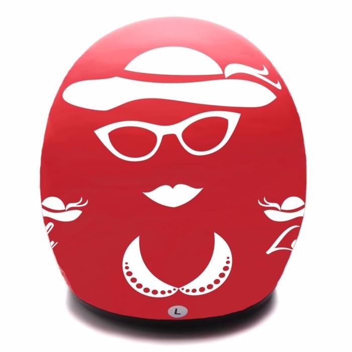 BGR helmet COUPLE HELM DEWASA WTO Helmet Retro Bogo Gentleman Hitam L 4
