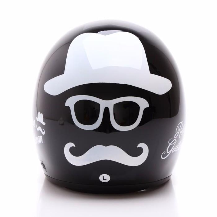 BGR helmet COUPLE HELM DEWASA WTO Helmet Retro Bogo Gentleman Hitam L 3