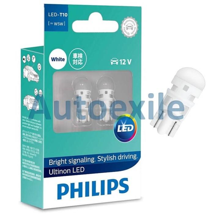 Foto Produk Philips Ultinon LED T10 W5W 12V 6000K Putih Lampu Senja Motor Mobil dari Autoexile