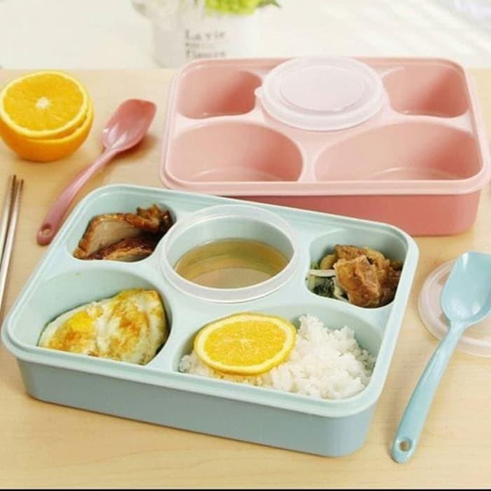Lunch box yooyee tipe 393/ kotak makan bento yooyee 5 sekat
