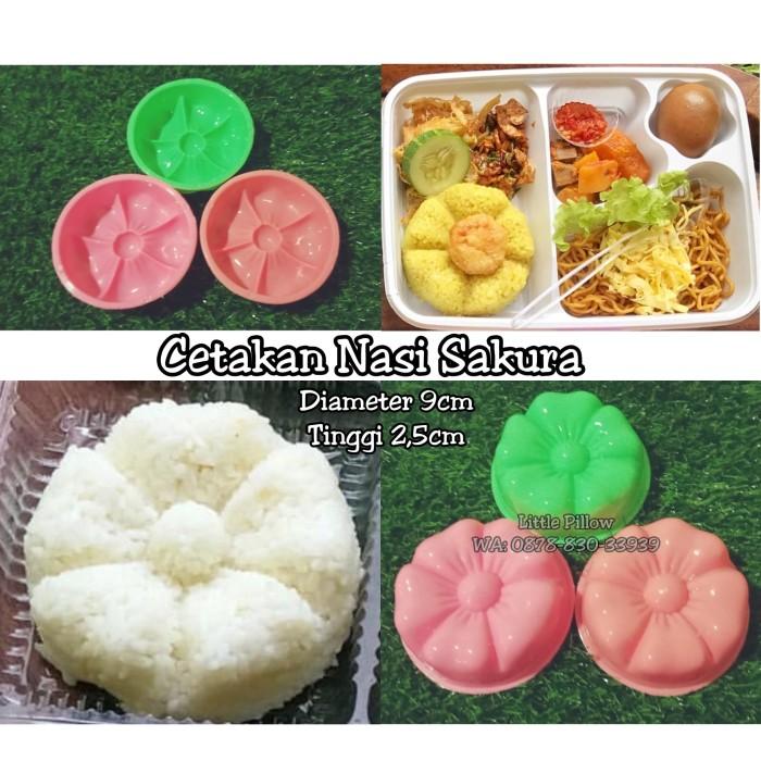 Foto Produk Cetakan Nasi Bunga Sakura/cetakan bento/bento rice mold/cetakan puding dari Little Pillower