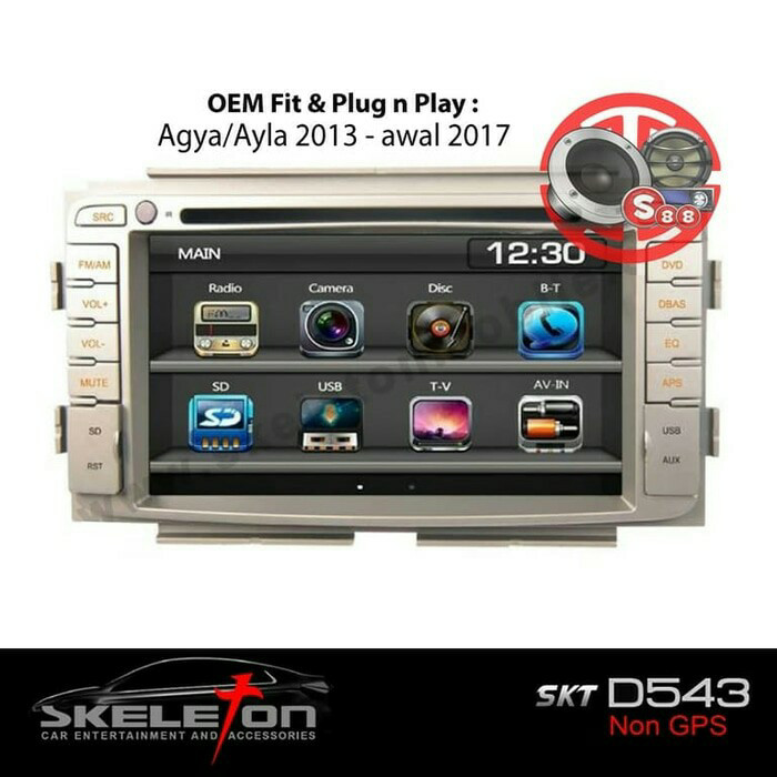 Hama Car Radio Support from 2007 with OEM radio double Din for