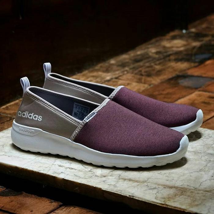 harga Adidas cloudfoam slip on maroon original sneaker for women Tokopedia.com