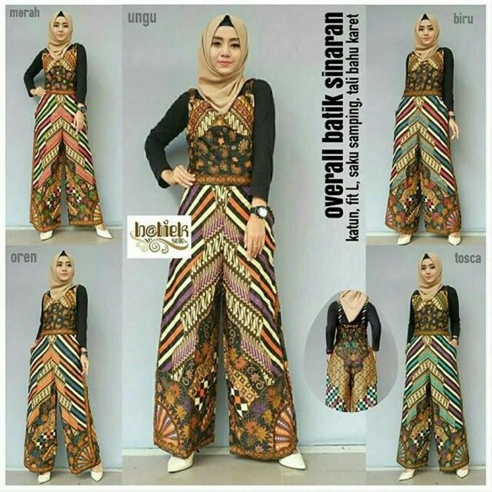 Jual Overall Batik Overall Batik Sinaran Merah Jakarta Selatan Starangels Boutique Tokopedia