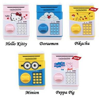 harga Celengan tabungan mesin atm cartoon doraemon hello kitty pokemon Tokopedia.com