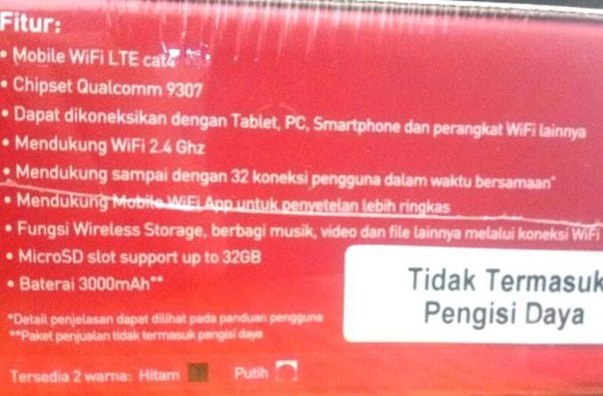 Dijual Mifi Smartfren Andromax M3Y 4G - Free Perdana Kuota 30Gb -