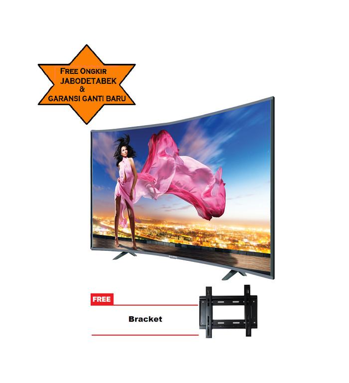 harga Ichiko s6558 televisi led 65 inch ultra hd 4k curve+ bracket Tokopedia.com