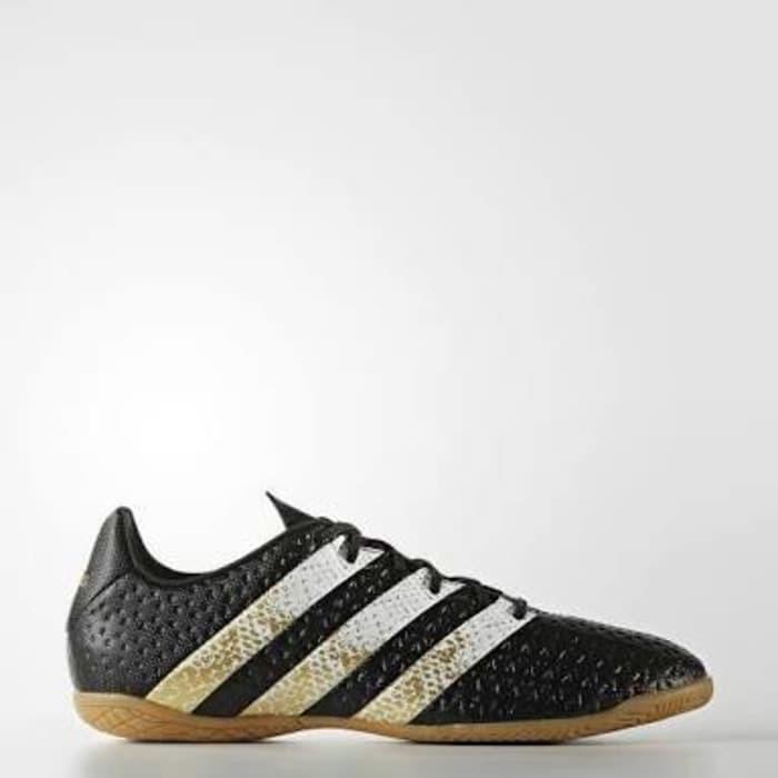 riega la flor Automatización capa  Jual Sepatu Futsal Adidas Ace 16.4 IN Hitam Gold Original Asli Murah -  Jakarta Barat - tokololi | Tokopedia