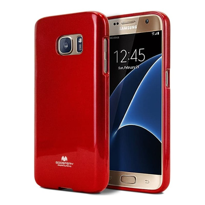 goospery samsung a3 2016 pearl jelly case - red