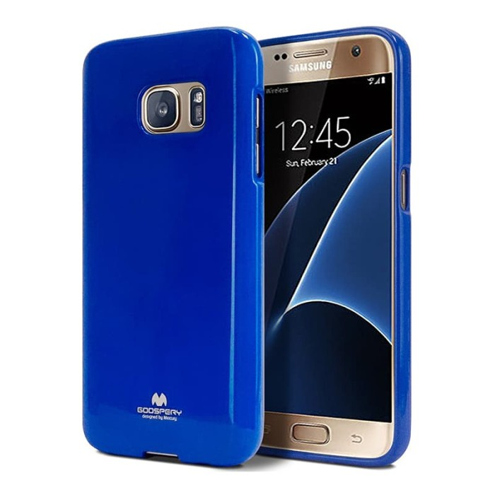 goospery samsung a3 2016 pearl jelly case - blue