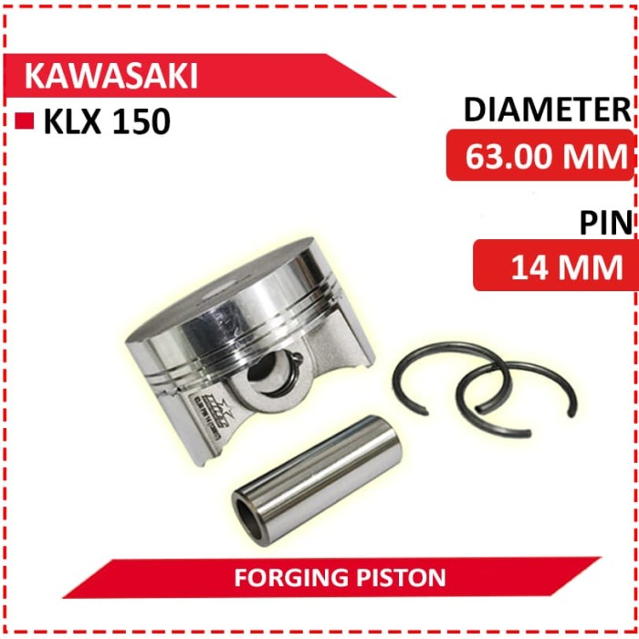 harga Piston forging brt 63mm  pin 14mm (klx 150) Tokopedia.com