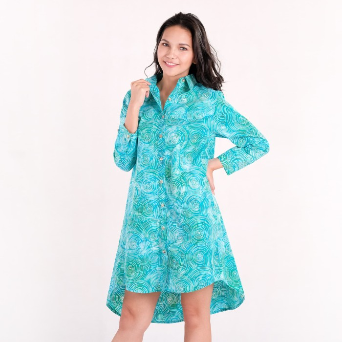 Batik pria tampan - dress a-shirt abs spin a round - biru muda xl