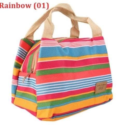 Promo Stripe - Lunch Bag / Thermal Insulated Bag / Cooler Bag / Tas