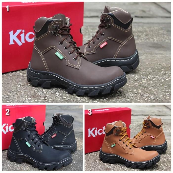 Sepatu Kickers Predator Safety Darkbrown - Info Harga Terkini dan ... 5a3136e9c5
