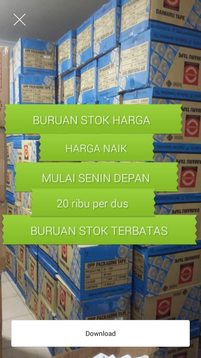 Jual LAKBAN BENING DAIMARU HARGA PER DUS ISI 72 Jakarta Barat ATK TERMURAH AW