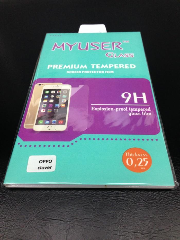 harga Myuser tempered glass 9h antigores kaca oppo clover r815 screen guard Tokopedia.com