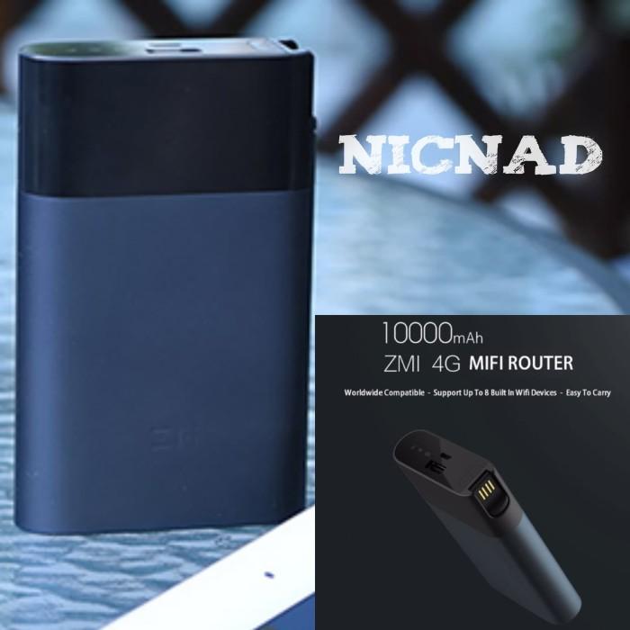 harga Xiaomi zmi 4g wifi router 10000 mah power bank whit mobile hotspot Tokopedia.com