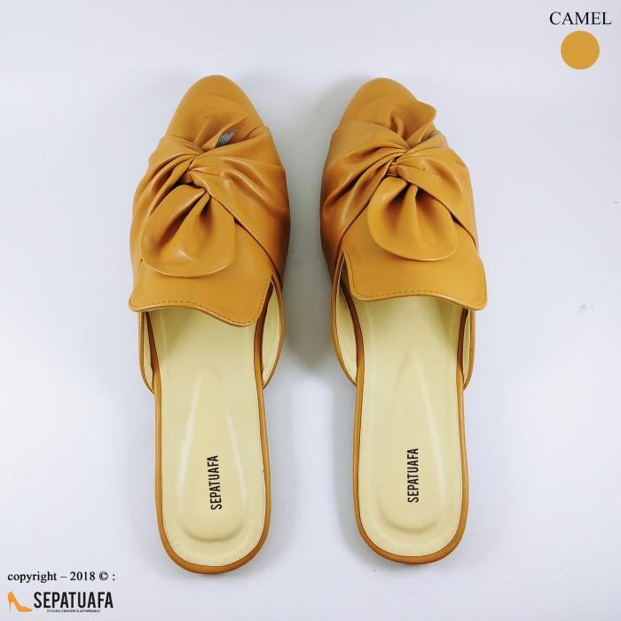 harga Sepatuafa - flat shoes sandal selop pita hn19 - camel Tokopedia.com