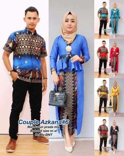 Jual Baju Batik Couple Kebaya Azkana Murah - Gallery Batik Barokah ... b0f7044c50