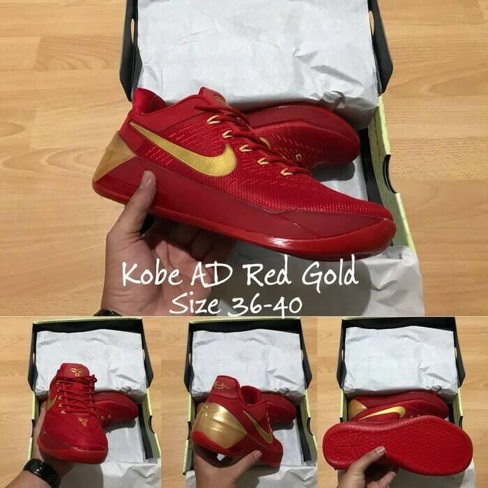 Jual Sepatu Basket Nike Kobe Ad Red Gold Kota Medan Arios Sport Tokopedia