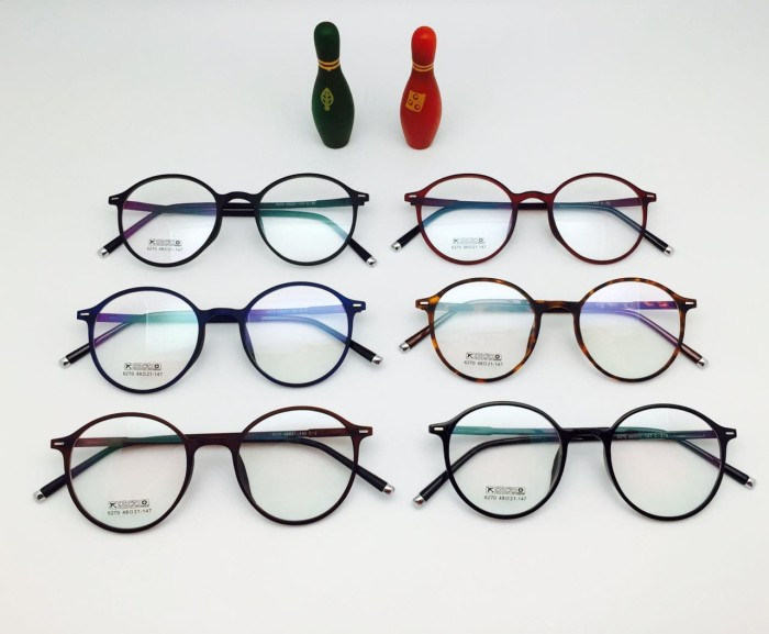 Jual Frame Kacamata Minus Korea Bulat BD 6270 Pria Wanita Hitam Ungu ... d357ee5e8e